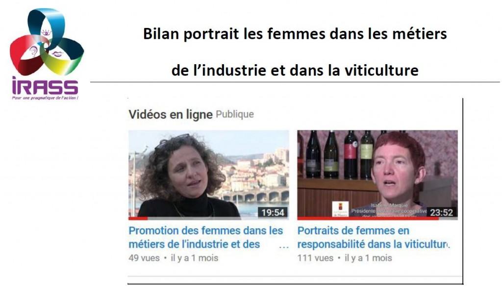 les femmes dans les métiers de l'industrie et dans la viticulture